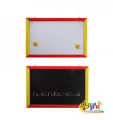 Children's bilateral board for drawing of