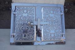 Дверца (ПР) духовки (алюмин.+метал.нерж)