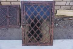 Дверца коптилки метал+ковка 1-ств.(40х60) (елка)