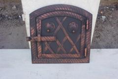 Дверца духовки арка метал+ковка (батон)