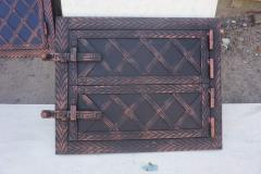 Дверца печная (верх+низ) метал+ковка (елка)