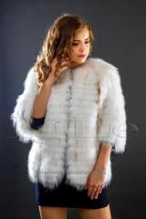 Short fur coat from fur of the Arctic fox...