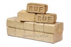 Wood Ruf briquette