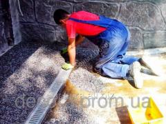 Ramp in garage - glue for crushed stone purfiks,