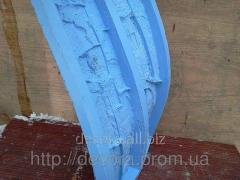 Liquid brush rubber for forms of a decorative