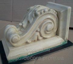 Silicone forms for a stucco molding the Arm