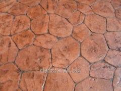 Polyurethane stamps for plaster, concrete, on
