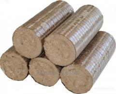 Briquettes for a fire chamber