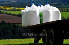 Доставка минеральных удобрений на склад хозяйства.