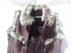 Leather vest female 10, brown, size 48, 54