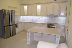 Kitchen direct from the massif of an ash-tree, an