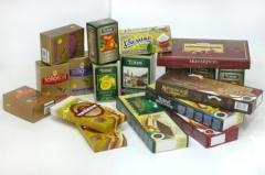 Packing cardboard for tea. Production of cardboard