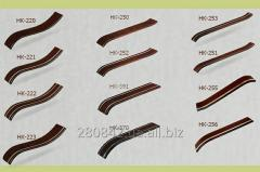 Wooden bylets and overlay for production of