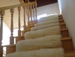 Track staircase, sheepskin