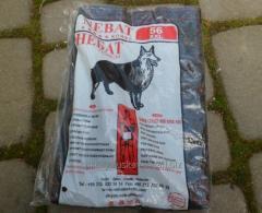 Belt, from dog wool, black