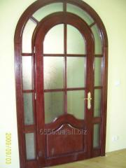 Door arch with glass