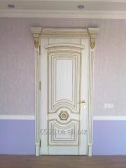 Дверь межкомнатная резная белая