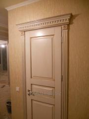 The door is interroom, continuous, white