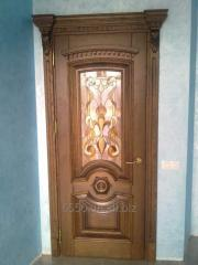 Unary interroom door with glass