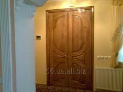 Interroom door continuous, without glass