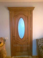Interroom oar door with glass