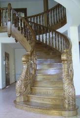 Лестница из натурального дерева Эксклюзивная