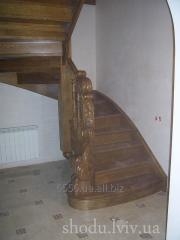 Ladder wooden for the house the Exclusive