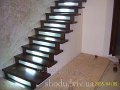 Современная лестница с подсветкой