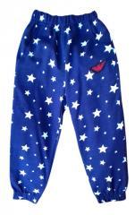 Sports children's Asterisk trousers, blue,