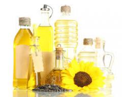 Sunflower oil of a cold, direct extraction.