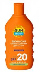 Sun-protection emulsion for suntan of SPF20