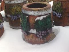 Barrel flower bed