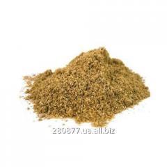 The coriander is ground