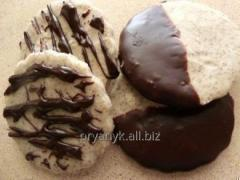 Oatmeal cookies in chocolate glaze