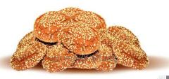 Oatmeal cookies with sesame