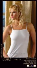 Undershirt female on a narrow shoulder strap 2119