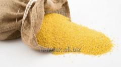 Millet polished in bags