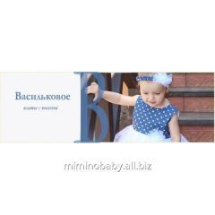Children's summer dress Cornflower-blue