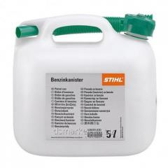 The canister for Stihl gasoline, 20 l, transparen