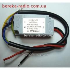 The LED driver for a searchlight 10W DPP10, Uvkh =