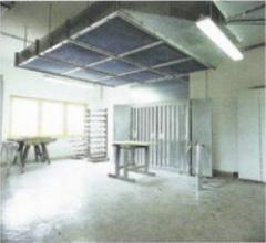 Стенка для удаления лакокрасочного тумана ( тип