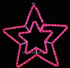 Led ornament Motive of Star of 58 cm red IP44