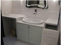 Столешница из кварца в ванную комнату
