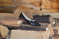 Female leather flats. Model - 42133 perforation