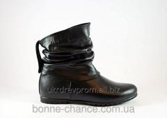 Female spring leather half boots. Model - 1102 the