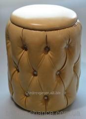 Padded stool soft Naples Beige