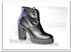 Women's spring leather boots. Model - 004,