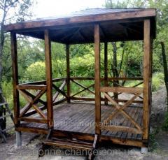 Garden wooden arbor Venice array 22034