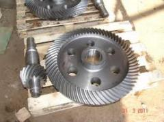 Pinion shafts conic m8 z12 of reducer of electric