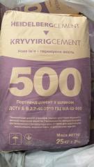 Цемент ПЦ ІІ/А 500 фасований в мішках по 25 кг,